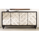 Hooker Furniture Mélange Mirrored Angle Console in Black 638-85176