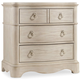 Hooker Furniture Sunset Point 3-Drawer Nightstand in Hatteras White 5325-90016