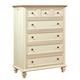Aspenhome Cottonwood 5-Drawer Chest in Linen White I67-456