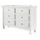 Kaslyn Six Drawer Dresser in White B502-21