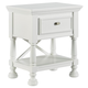 Kaslyn One Drawer Night Stand with Shelf in White B502-91