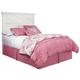 Kaslyn Queen Panel Headboard Bed in White B502-57