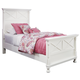 Kaslyn Twin Panel Bed in White