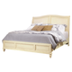 Aspenhome Cottonwood California King Sleigh Bed in Linen White