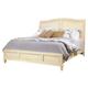 Aspenhome Cottonwood Queen Sleigh Bed in Linen White