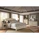 Aspenhome Cottonwood Sleigh Bedroom Set in Linen White