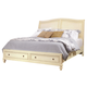 Aspenhome Cottonwood King Storage Sleigh Bed in Linen White