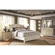 Aspenhome Cottonwood Storage Sleigh Bedroom Set in Linen White