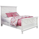 Kaslyn Queen Panel Bed in White B502-57/54/96