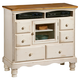 Hillsdale Wilshire TV Chest in Antique White 1172-790