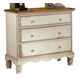 Hillsdale Wilshire 3-Drawer Bedside Chest in Antique White 1172-772