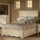 Hillsdale Wilshire Platform Storage Bedroom Set in Antique White