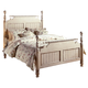 Hillsdale Wilshire King Poster Bed in Antique White