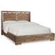 Cresent Fine Furniture Waverly Platform Low Profile Cal King Bed in Driftwood