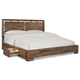 Cresent Fine Furniture Waverly Platform Queen Bed w/ Storage on One Side in Driftwood
