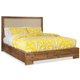 Cresent Fine Furniture Waverly Upholstered Platform Queen Bed in Driftwood
