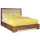 Cresent Fine Furniture Waverly Upholstered Platform King Bed in Driftwood