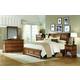 Aspenhome Alder Creek 4-Piece Sleigh Bedroom Set in Butterscotch