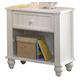 Hillsdale Westfield One Drawer Nightstand in Off White 1354-772
