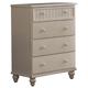 Hillsdale Westfield 4-Drawer Chest in Off White 1354-784