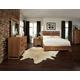 Cresent Fine Furniture Waverly Platform Low Profile Bedroom Set in Driftwood