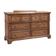 Aspenhome Alder Creek 6-Drawer Dresser in Butterscotch I09-453