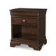 Cresent Fine Furniture Provence Reader's Nightstand  in Antique Tobacco 1713