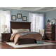 Cresent Fine Furniture Provence 4 Piece Panel Bedroom Set in Antique Tobacco