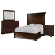Cresent Fine Furniture Provence 4 Piece Panel with Storage Bedroom Set in Antique Tobacco