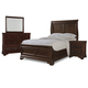 Cresent Fine Furniture Provence 4 Piece Sleigh Bedroom Set in Antique Tobacco