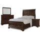 Cresent Fine Furniture Provence 4 Piece Sleigh with Storage Bedroom Set in Antique Tobacco