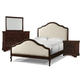 Cresent Fine Furniture Provence 4 Piece Upholstered Bedroom Set in Antique Tobacco