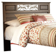 Allymore Queen Panel Headboard Bed in Brownish Gray B216-55