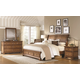 Aspenhome Alder Creek 4-Piece Sleigh Storage Bedroom Set in Butterscotch