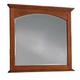Cresent Fine Furniture Modern Shaker Landscape Mirror in Cherry 1302