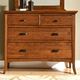 Cresent Fine Furniture Modern Shaker Small Media Dresser in Cherry 1303