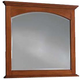 Cresent Fine Furniture Modern Shaker Small Mirror in Cherry 1304
