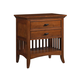 Cresent Fine Furniture Modern Shaker Nightstand in Cherry 1312