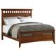 Cresent Fine Furniture Modern Shaker Queen Slat Panel Bed in Cherry 1331Q