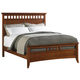 Cresent Fine Furniture Modern Shaker California King Slat Panel Bed in Cherry 1331C