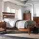 Cresent Fine Furniture Modern Shaker 4 Piece Slat Panel Bedroom Set in Cherry