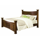 Standard Furniture Artisan Loft Queen Column Bed in Warm Oak Finish