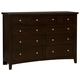All-American Bonanza 8-Drawer Triple Dresser in Merlot