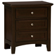 All-American Bonanza 2-Drawer Nightstand in Merlot