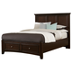All-American Bonanza Queen Mansion Storage Bed in Merlot