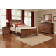 Cresent Fine Furniture Retreat Cherry 4 Piece Panel Bed in Cherry