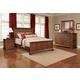 Cresent Fine Furniture Retreat Cherry 4 Piece Panel Bed in Cherry