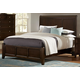All-American Bonanza Queen Sleigh Bed in Merlot