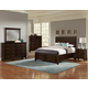 All-American Bonanza Sleigh Storage Bedroom Set in Merlot