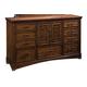 Standard Furniture Artisan Loft Drawer Dresser in Warm Oak Finish 92100-92109